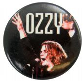 Ozzy Osbourne - 'Ozzy Stage Black' Button Badge